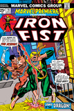 Gil Kane - The Immortal Iron Fist: Marvel Premiere No.16 Cover: Iron Fist and The Scythe Plakát