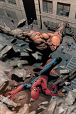 Marvel Knights Spider-Man No.15 Cover: Spider-Man and Crusher Creel Fighting Poster by Billy Tan
