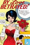 Marvel Comics Retro: By Love Betrayed Comic Panel, Evening Gown and Gloves, with Roses Prints