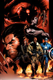 Ultimate Nightmare No.1 Cover: Nick Fury, Captain America, Wolverine and Colossus Photo by Trevor Hairsine