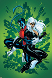 Terry Dodson - Spider-Man and The Black Cat No.5 Cover: Nightcrawler and Black Cat Plakát
