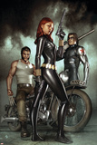 Black Widow: Deadly Origins No.1 Cover: Black Widow, Bucky and Wolverine Posters by Adi Granov