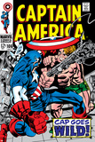 Marvel Comics Retro: Captain America Comic Book Cover No.106, Cap Goes Wild Prints