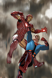 Eternals No.4 Cover: Iron Man and Ikaris Posters by Daniel Acuna
