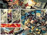 Avengers No.12.1 Cover: Panels with Ms. Marvel, Wolverine, Beast, Thor, and Moon Knight Posters by Bryan Hitch