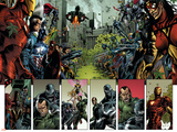 Thunderbolts No.125 Group: Iron Man, Mr. Fantastic, Captain America and Spider Woman Prints by Fernando Blanco