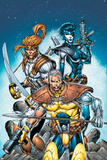 X-Force No.6 Cover: Cable, Shatterstar and Domino Posters by Rob Liefeld