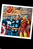 Thor No.73 Group: Thor, Iron Man and Captain America Posters by Scot Eaton