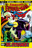 The Amazing Spider-Man No.109 Cover: Spider-Man, Dr. Strange, and Flash Thompson Posters av John Romita Sr.