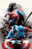 Spectacular Spider-Man No.15 Cover: Captain America and Spider-Man Photo by Steve Epting