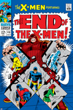 X-Men No.46 Cover: Juggernaut, Cyclops, Beast, Angel, Grey, Jean and X-Men Prints by Werner Roth