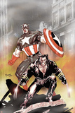 Wolverine Captain America No.1 Cover: Wolverine and Captain America Posters by Tom Derenick