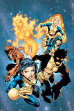 New Mutants No.13 Cover: Sunspot, Wolfsbane, Cannonball, Karma, Wind Dancer and New Mutants Poster by Randy Green