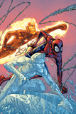X-Men: First Class No.16 Cover: Iceman, Human Torch and Spider-Man Posters by Patrick Scherberger