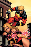 Captain Marvel No.2 Cover: Captain Marvel and Ms. Marvel Posters by Ed McGuinness