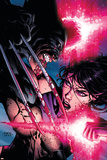 Psylocke No.4 Cover: Psylocke and Wolverine Print by David Finch