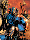 Ultimate War No.3 Group: Thor and Captain America Print by Chris Bachalo