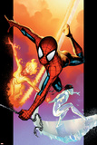 Ultimate Spider-Man No.118 Cover: Spider-Man, Iceman and Firestar Print by Stuart Immonen