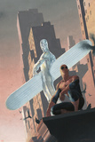 Silver Surfer: Requiem No.2 Cover: Silver Surfer and Spider-Man Poster