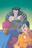 Jubilee No.6 Cover: Jubilee and Wolverine Poster by Casey Jones