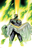 X-Men: Phoenix - Endsong No.4 Cover: Cyclops and Emma Frost Posters af Greg Land