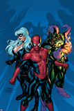 Marvel Knights Spider-Man No.11 Cover: Green Goblin, Spider-Man and Black Cat Posters by Terry Dodson
