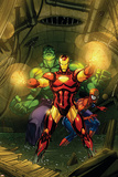 Marvel Adventures Super Heroes No.4 Cover: Iron Man, Hulk and Spider-Man Prints by Roger Cruz