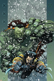 Ultimate Wolverine vs. Hulk No.5 Cover: Wolverine and Hulk Poster by Leinil Francis Yu