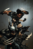 X-Force No.1 Cover: Wolverine, X-23, Wolfsbane and Warpath Prints by Clayton Crain