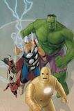 Avengers: The Origin No.5 Cover: Iron Man, Wasp, Ant-Man, Thor, Hulk Posters by Phil Noto