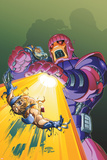 X-Men Unlimited No.9 Cover: Storm, Wolverine and Sentinel Fighting Poster