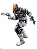 Nick Fury with a Gun Print