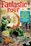 Marvel Comics Retro: Fantastic Four Family Comic Book Cover No.1 (aged) Prints