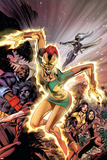 Uncanny X-Men No.457 Cover: Phoenix, X-23, Psylocke, Nightcrawler and Storm Charging Photo
