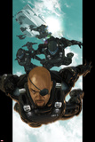 Ultimate Comics Ultimates No.4: Nick Fury Falling through the Sky Prints by Esad Ribic
