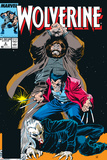 Wolverine No.6 Cover: Wolverine, Roughouse and Bloodsport Posters by John Buscema
