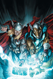 Secret Invasion: Thor No.3 Cover: Thor and Beta-Ray Bill Prints by Doug Braithwaite
