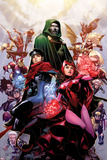 Avengers: The Childrens Crusade No.4 Cover: Scarlet Witch, Wiccan, and Dr. Doom Print by Jim Cheung