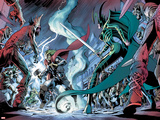 Avengers Prime No.3: Thor and Hela Fighting Posters by Alan Davis