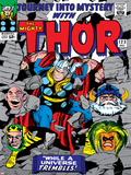 Marvel Comics Retro: The Mighty Thor Comic Book Cover No.123, Mystery, Absorbing Man, Odin & Loki Photo