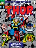 Marvel Comics Retro: The Mighty Thor Comic Book Cover No.123, Mystery, Absorbing Man, Odin & Loki Photo