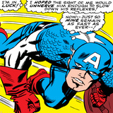 Marvel Comics Retro: Captain America Comic Panel, Monologue, I'm in Luck! Print