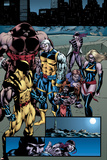 Weapon X: Days Of Future Now No.4 Group: Wolverine, Juggernaut, Cable, Lady Deathstrike and Warbird Posters by Andy Smith
