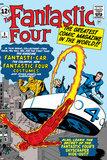 Marvel Comics Retro: Fantastic Four Family Comic Book Cover No.3, Flying Poster