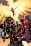 Ultimate X-Men No.93 Cover: Wolverine, Phoenix, Apocalypse and Onslaught Posters par Salvador Larroca