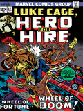 Marvel Comics Retro: Luke Cage, Hero for Hire Comic Book Cover No.11, Wheel of Fortune and Doom Posters