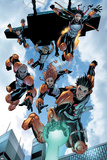 New X-Men: Academy X No.16 Group: Hellion, Moonstar, Quill, Surge, Synch and Wind Dancer Posters by Aaron Lopresti