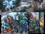Thor: Blood Oath No.4 Group: Thor, Hogun, Volstagg and Fandral Posters by Scott Kolins