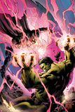 Incredible Hulks No.619 Cover: Hulk and Dr. Strange Fighting Posters by Carlo Pagulayan