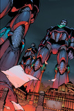 Decimation: House Of M Day After No.1 Cover: Sentinel Crouching Posters by Randy Green